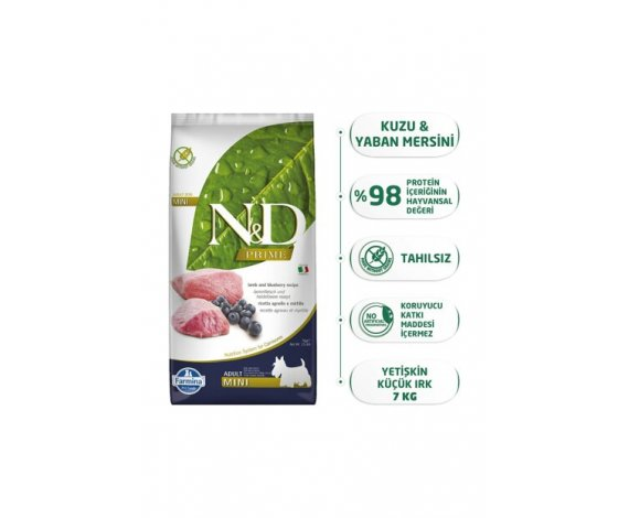 N&D PRIME KUZU & YABAN MERSİNİ ADULT MINI 7 KG