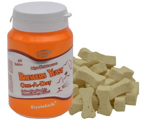 Biyo Powercure Breewers Yeast One A Day (Kedi Ve Köpekler İçin Vitamin Tablet)