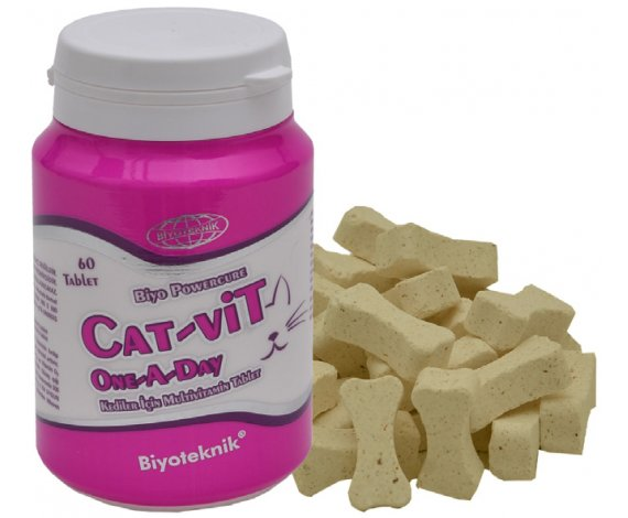 Biyo Powercure Cat-Vit One A Day ( Kediler İçin Multivitamin Tablet)